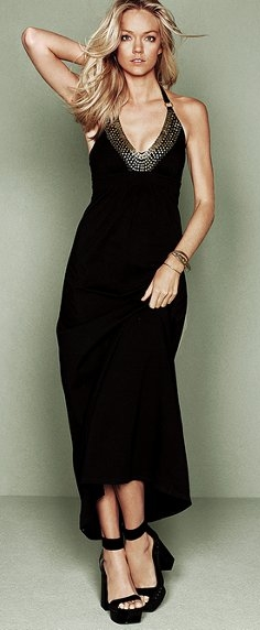 long black dress for a romantic date victorias secret