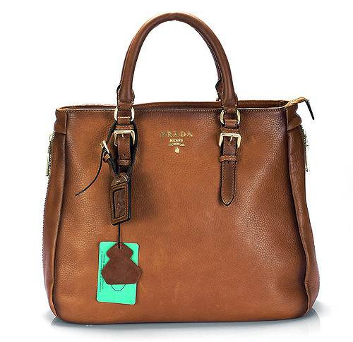 prada-leather-tote-office handbag-brown