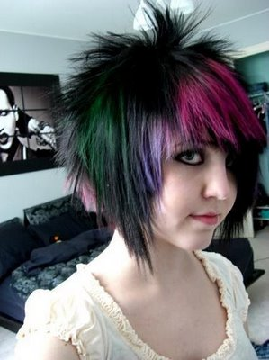 short emo hairstyles