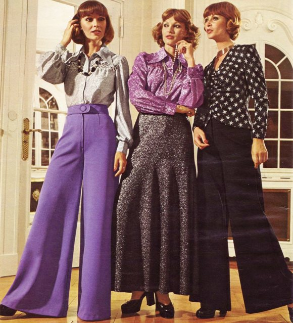 70s fashion bell-bottoms