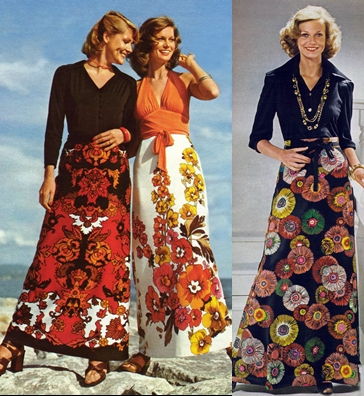 70s long skirts fashion