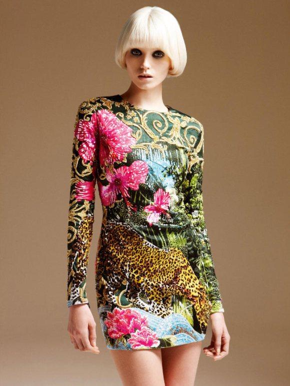 Abbe Lee Kershaw Atelier Versace Spring 2011 Lookbook 1