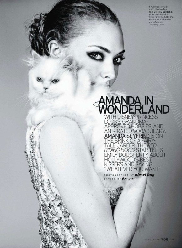Amanda Seyfried Elle US April 2011