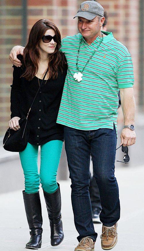Ashley Greene rocks green denims on St Patricks Day