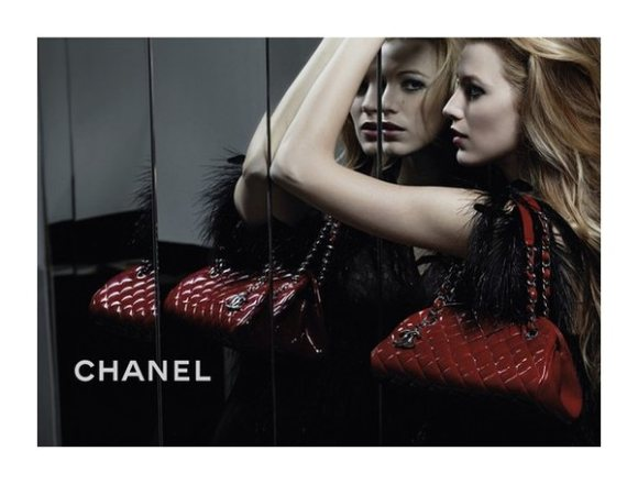 Blake Lively Chanel Mademoiselle Handbag Campaign