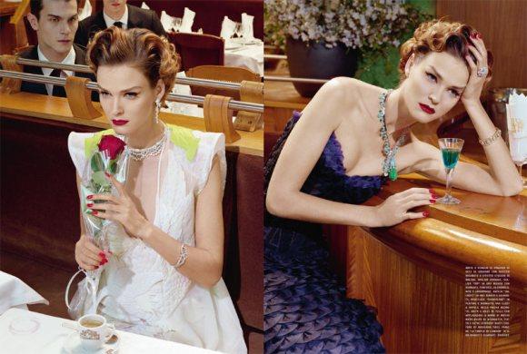 Carmen Kass Vogue Italia March 2011