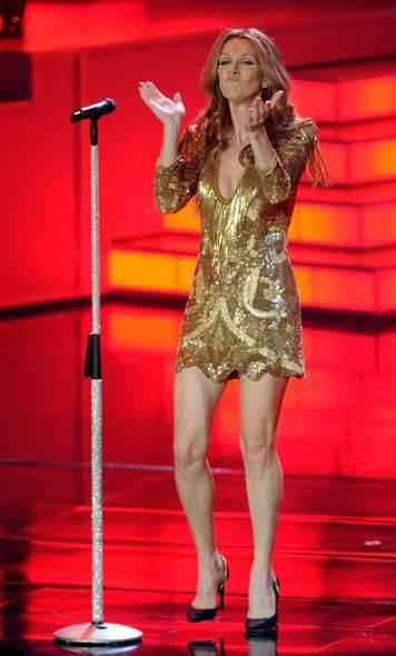 Celine Dion Colosseum Caesars Palace balmain sequined dress