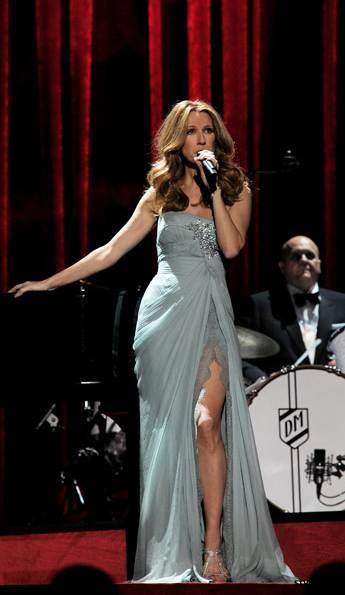 Celine Dion Colosseum Caesars Palace elie saab gown
