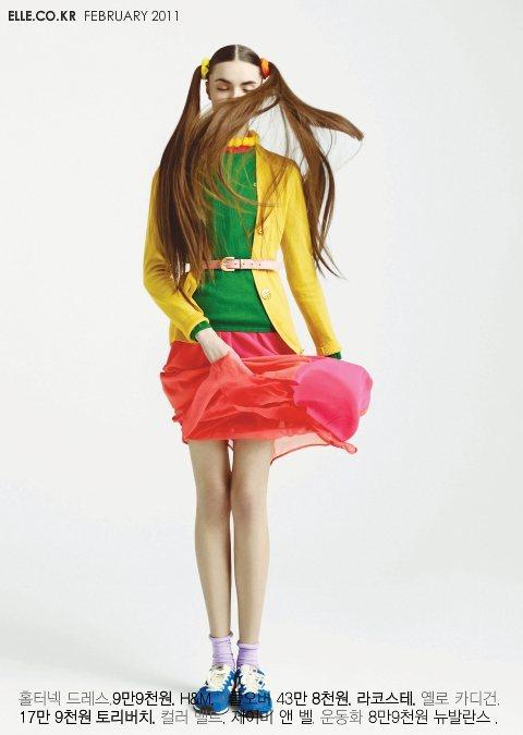 Daryn Aniskova Elle Girl Korea February 2011