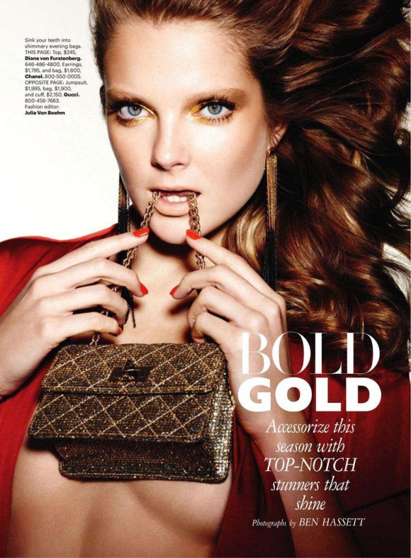 Eniko Mihalik for Harpers Bazaar US March 2011 1