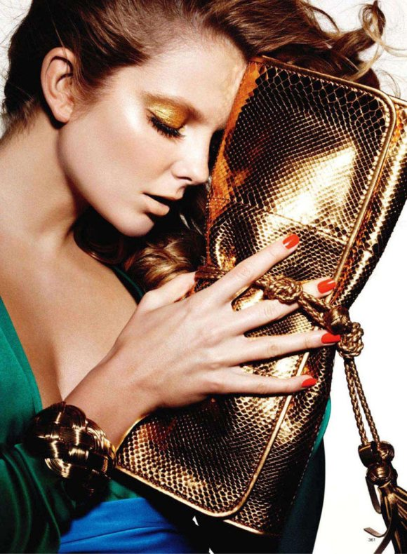 Eniko Mihalik for Harpers Bazaar US March 2011 2