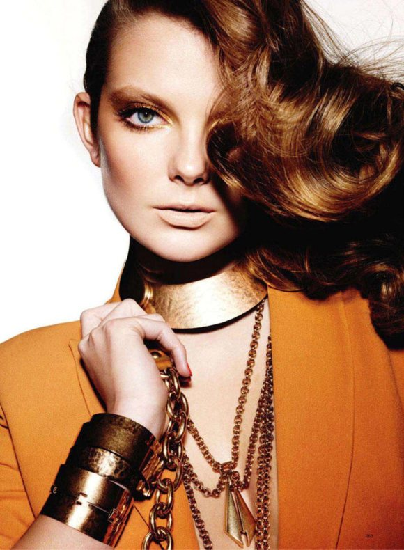 Eniko Mihalik for Harpers Bazaar US March 2011 4
