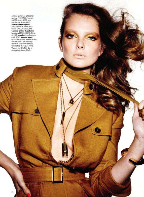 Eniko Mihalik for Harpers Bazaar US March 2011 5