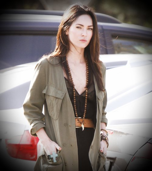 Get the Megan Fox Military inspired look