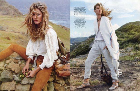 Gisele Bundchen inside Vogue Paris April 2011
