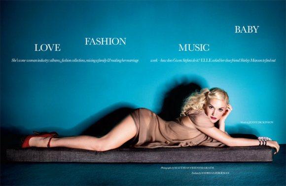 Gwen Stefani Elle UK April 2011