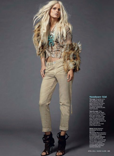 Hartje Andresen Marie Claire US April 2011