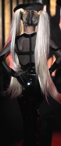 Lady Gaga walks the ramp Mugler show