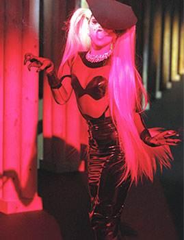 Lady Gaga walks the ramp for Mugler-black outfit