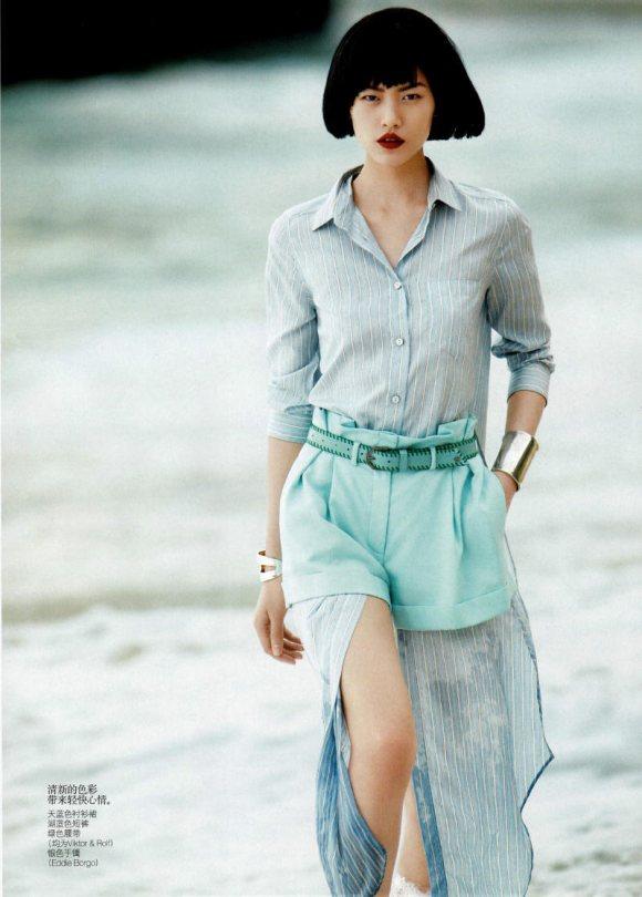 Liu Wen Vogue China April 2011