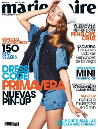 Mona Johannesson Marie Claire Spain April 2011