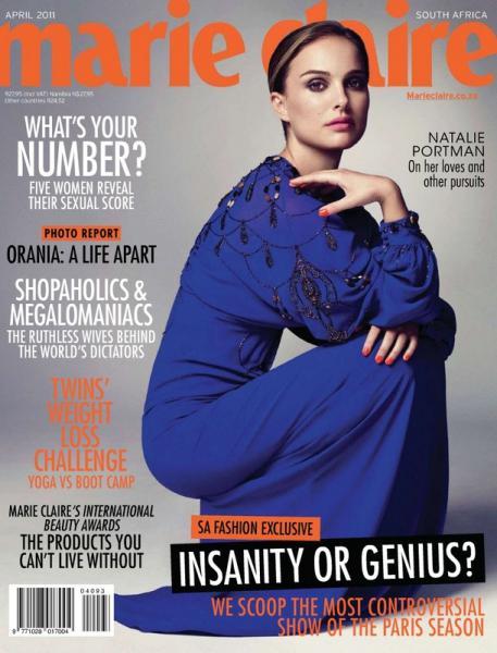 Natalie Portman Marie Claire South Africa April 2011