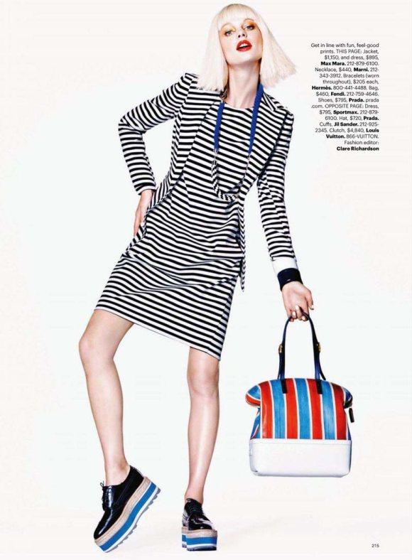 Patricia van der Vliet in Harper's Bazaar US April 2011