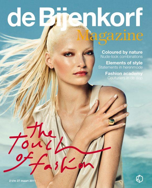 Sharon van de Pas de Bijenkorf Magazine March 2011