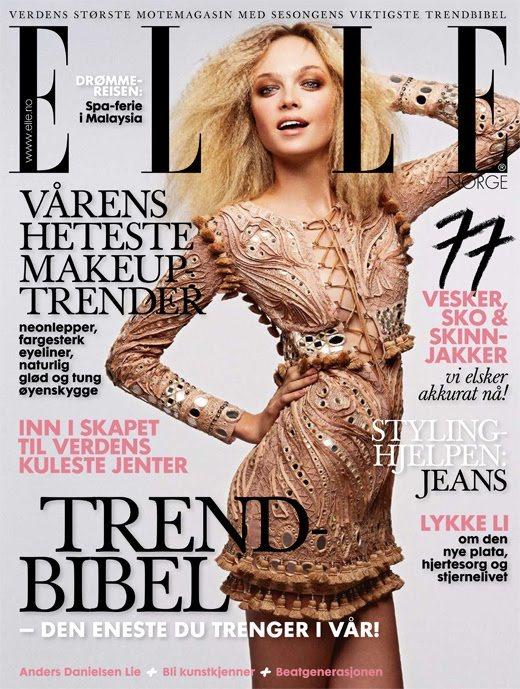 Siri Tollerod Elle Norway March 2011