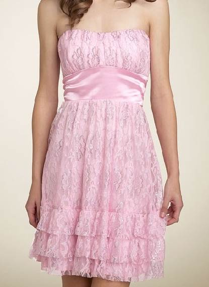 colored lace fabric dress