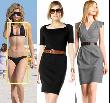 dressing banana shape women