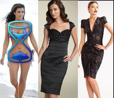 dressing hourglass body shape