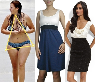 Women Body Shapes. dressing pear body shape