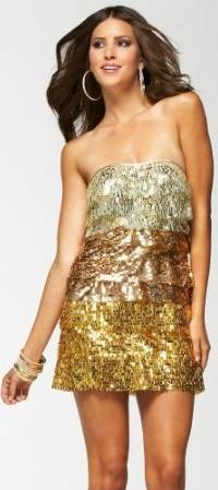 wearing sequin dress for party-1