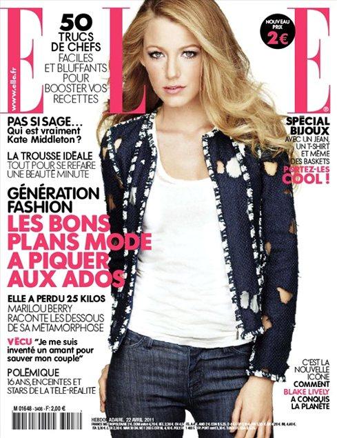 Blake Lively Elle France April 2011