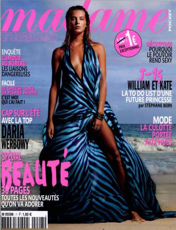 Daria Werbowy Madame Figaro April 2011