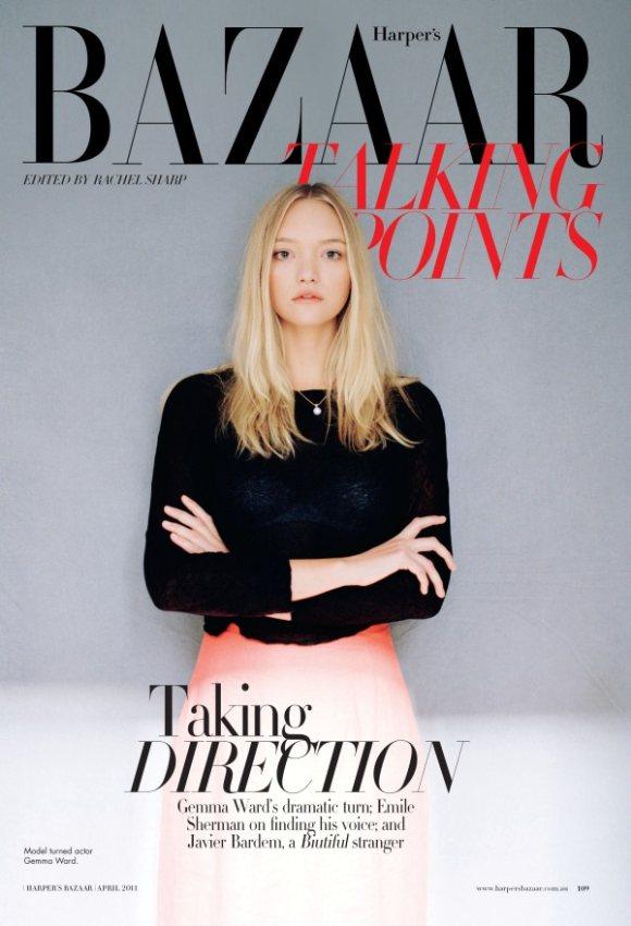 Gemma Ward Harpers Bazaar Australia