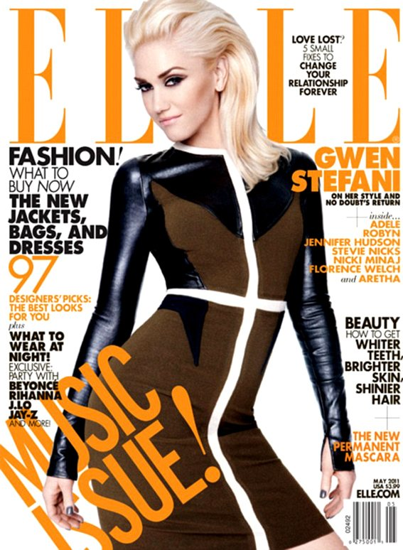 Gwen Stefani Elle US May 2011