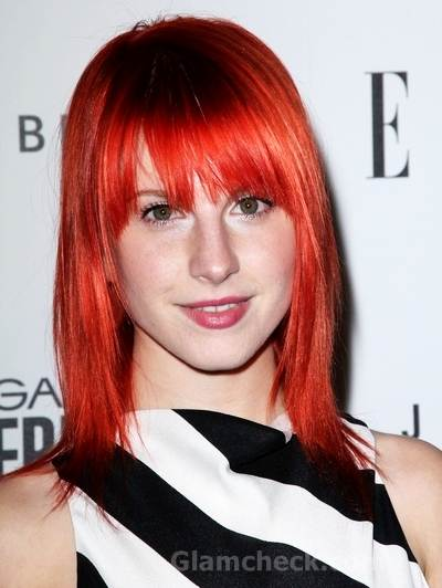 paramore hayley williams haircut. Hayley Williams red hair look