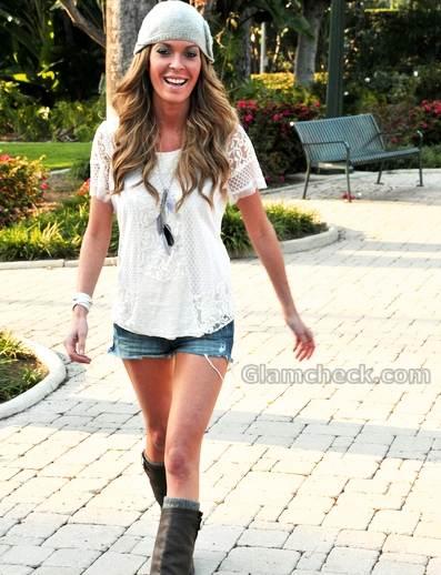 Jasmine Dustin denim shorts Celebrity street style 2011