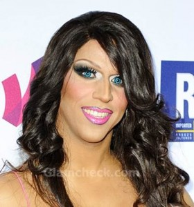 Jessica Wild at GLAAD Media Awards in Makeup gone horribly wrong
