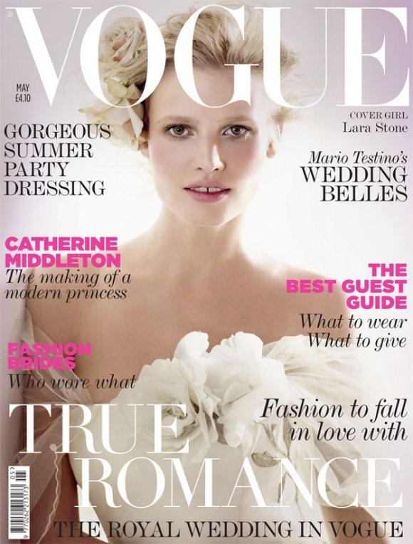 Lara Stone Vogue UK May 2011
