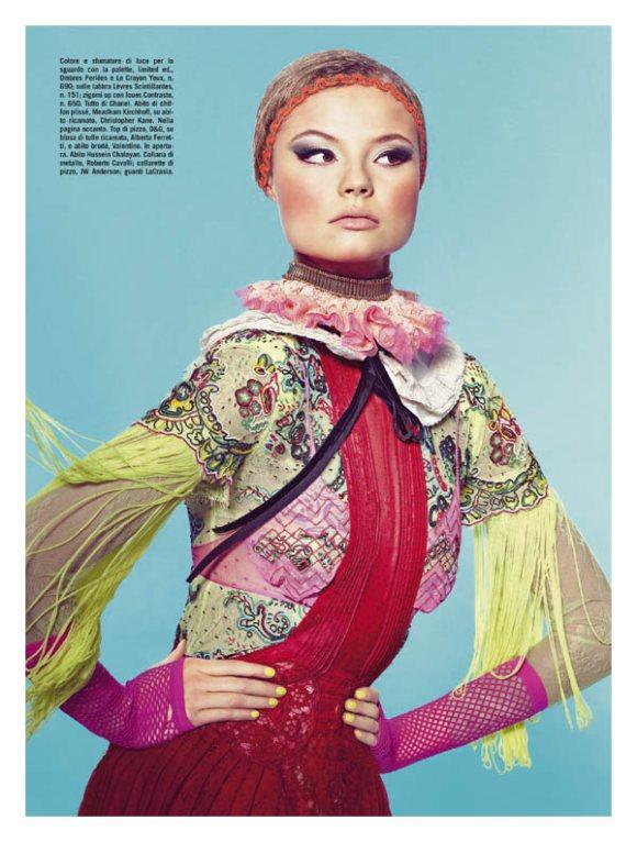 Magdalena Frackowiak Vogue Italia April 2011