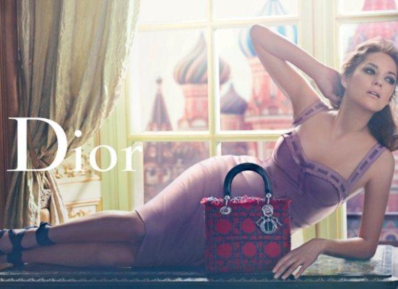 Marion Cotillard Lady Dior Handbags S S 2011