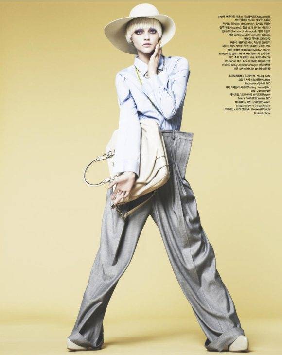 Sasha Pivovarova Vogue Korea April 2011