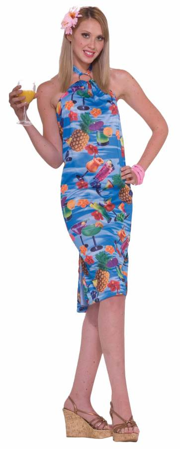 Short halter Hawaiian dress