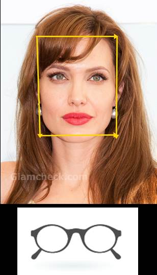 angelina jolie square face glass frame