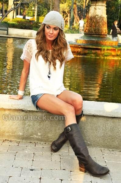denim shorts Celebrity street style 2011