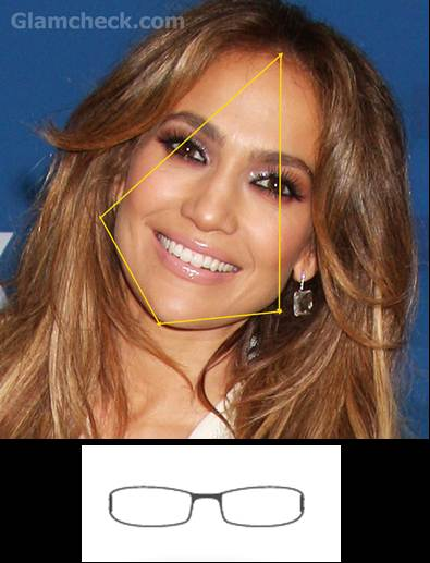 jennifer lopez diamond face rimless frame