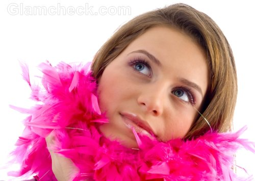 Feather scarves stoles